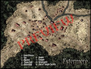 Estermere - Town Map - Preview Version