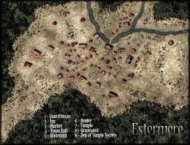Estermere - Town Map