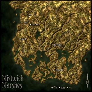 Mistwick Marshes - Regional Map